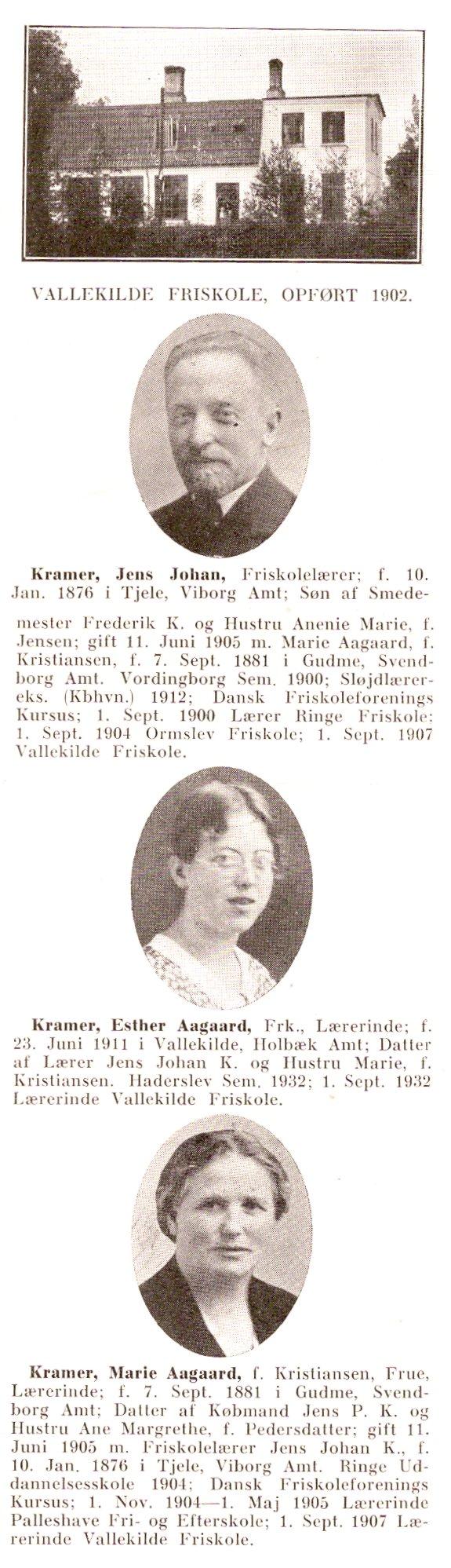 Jens johan kramer f 1876 vallekilde friskole